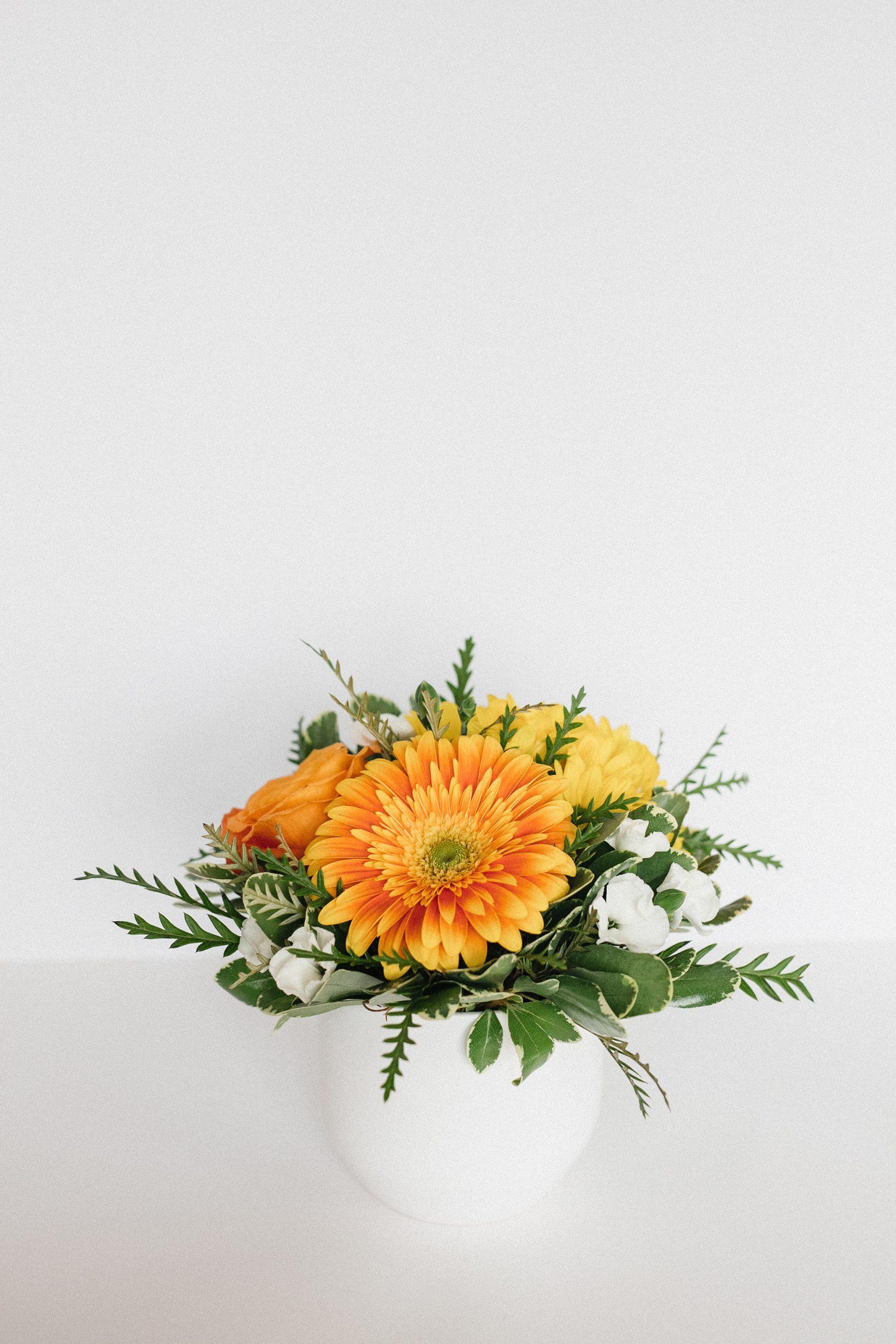Bouquet fleurs de naissance