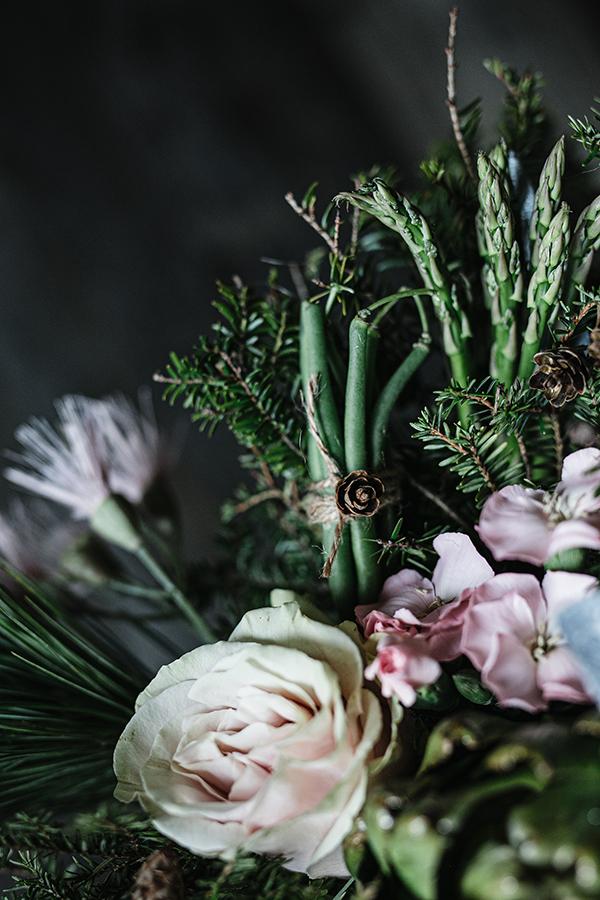 Bouquet fleurs et légumes